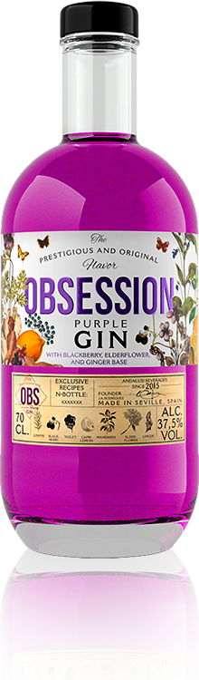 Obsession Gin Purple | Andalusí Licores
