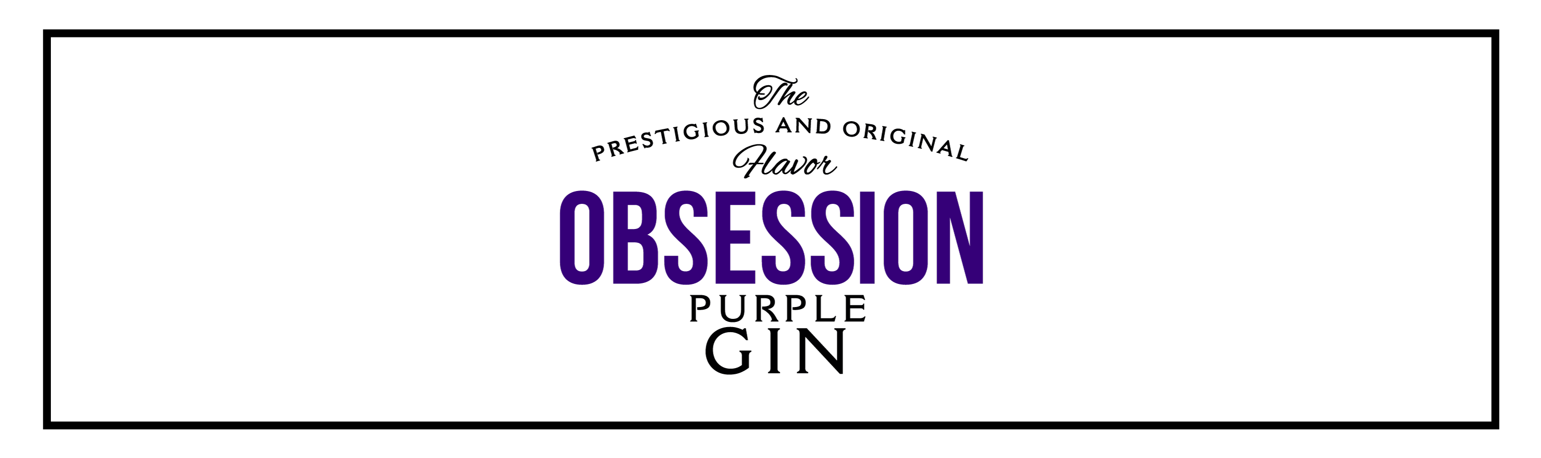 Header Purple Logo | Obsession Gin